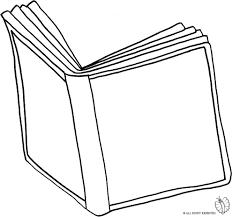 Disegno Di Libro Aperto Da Colorare Per Bambini Con Disegnare Un