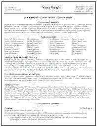 Public Relations Account Executive Sample Resume Podarki Co