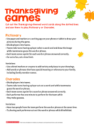 Thanksgiving Themed Games For The Whole Family Scholastic