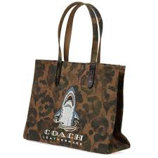 Lyst - Coach Shark Camo Tote Bag in Brown