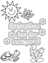 Spring Coloring Sheets Fun Ideas By Oriental Trading