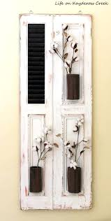 wall shutter decor shutter wall decor with mirror wall shutter decor