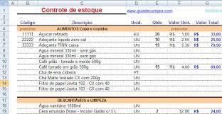 Planilhas De Controle De Estoque Planilhas Em Excel Planilha De Controle De Estoque