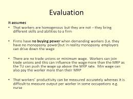 wage determination essay there are several factors that can  4 evaluation