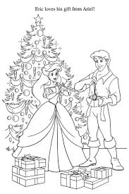 Educations Christmas Little Mermaid Coloring Pages Printable