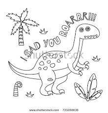 cute dinosaur coloring book series drawing for kid with dinosaur theme