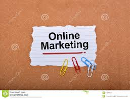 online marketing written on paper note background stock image  online marketing written on paper note background royalty stock photo