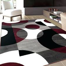 post red and grey area rugs black gray rug decorate with white design in decorations