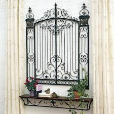 wall decor gorgeous wrought iron gate wall decor for inspirations pertaining to 2017 metal gate