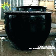 ceramic garden pots black ceramic pots large glazed ceramic pots large garden pot special large black