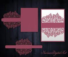 5x7 border template belly band wedding invitation vector file flourish laser cut