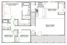 bungalow open concept floor plans