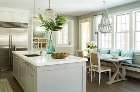 quartz kitchen island countertop decorate with natural elements