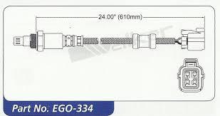 oxygen sensor o2 honda accord euro 03 07 2 4l 4cyl pre cat 4 wires image is loading oxygen sensor o2 honda accord euro 03 07