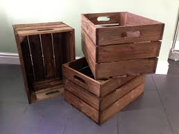 brown wooden crate