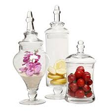Decorative Glass Candy Jars Amazon Designer Clear Glass Apothecary Jars 100 Piece Set 14