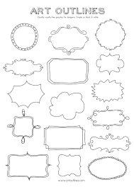 122923908a158f599ac2e1e58aff7828 set of journal tags & label frames art outlines full page 16 on frame outline template