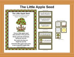 Apple Tree Pocket Chart The Little Apple Seed Pocket Chart School Printables Pre