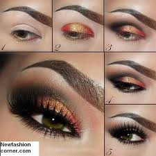 shimmer eye makeup idea for women