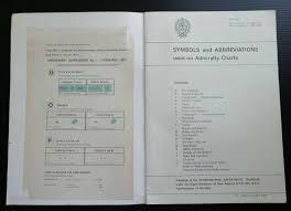 Admiralty Chart Symbols Symbols And Abbreviations Used On Admiralty Charts Vintage 1979 Boating Sailing