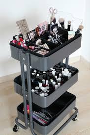 ikea raskog makeup organizers and storage ideas for makeup junkies