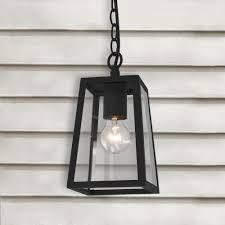 black outdoor pendant light