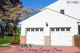 diy faux carriage garage door makeover and a giveaway