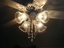 chandelier crystals hobby lobby ceiling fan after picture painted white and made into a fan chandelier