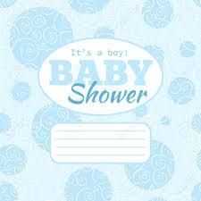 banque d images vecteur bleu baby shower invitation de partie de bébé avec swirles doodled et ee vide pour le texte le fond est pattern