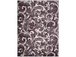 nourison kathy ireland home gallery ki02 rectangular dark violet rug nrki200dkvio