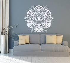 white mandala wall art decal master