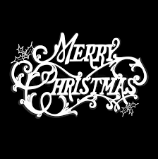 merry christmas card black and white. Brilliant White Black And White Christmas Card Merry Lettering  Stock Vector  Colourbox Inside And T