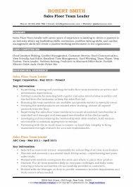 Leadership Resume Inspiration Sales Floor Team Leader Resume Samples QwikResume