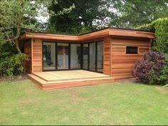init studios garden office. L Shape Contemporary Garden Room Init Studios Office