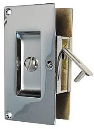pocket door privacy lock. First Impressions Contemporary Solid Brass Pocket Door Privacy Latch - For 1-3/4in. Doors EACH (Polished Chrome) Lock D