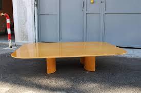 large minimalist low elm coffee table