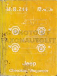 1984 jeep cherokee wagoneer original wiring diagram schematic 84 1984 jeep cherokee wagoneer original repair shop manual m r 244