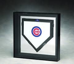 Size Of Home Plate Elite Single Full Size Home Plate Acrylic Display Case With Mirrored