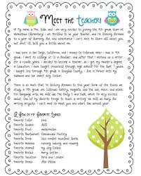 Teacher Introduction Letter Template Deserves Info