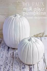 34 pumpkin decorations for fall diy faux milk glass pumpkins easy diy pumpkin decor