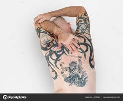 фотографии татуировок на спине человек с тату на спине стоковое