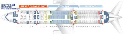 United Plane Seating Chart Seat Map Boeing 777 200 United Airlines Best Seats In Plane
