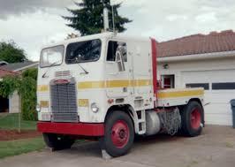 Freightliner cabover pickup truck