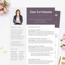 Modern Resume Template Word Delectable Orthopedic Nurse Modern Resume Cover Letter References Template