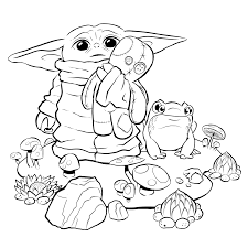This little guy has been dubbed baby yoda, and is the apparent star of the new disney mandalorian series. Tiefighters Baby Yoda Coloring Page Art By Tony Helms Ig Disney Coloring Pages Printables Baby Coloring Pages Cartoon Coloring Pages