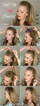 Half Ponytail Hairstyles Best 20 Half Ponytail Ideas On Pinterest Hair Style Half Long