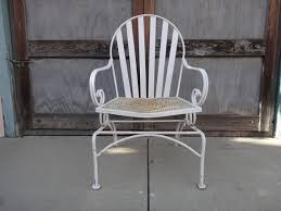 white iron patio furniture. vintage 50u0027s white iron outdoor bouncer chair los by housecandyla 17500 patio furniture