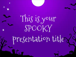 Free Presentation Template For Halloween Funny And Spooky