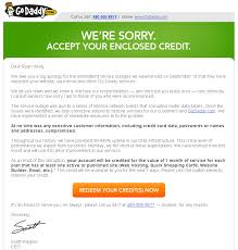 Customer Service Apology Email Heres A Brilliant Apology Letter From Godaddy Photo