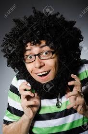 白で隔離アフロの髪型と変な男 の写真素材画像素材 Image 38224887